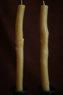 Oak Stick Candle Pair A
