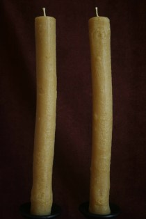 Third Pair of Oak Stick Candles from Base of Branch